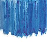 Sea blue watercolor flow for design page.