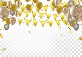 Happy Birthday balloons Colorful celebration background eps