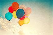 Vintage colorful balloon