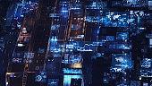 Transportation system concept. Communication network. Autonomous technology.