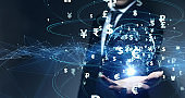 Financial technology concept. FinTech. Foreign exchange.