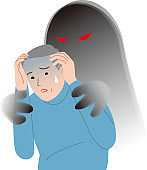 Elderly people with anxiety symptoms