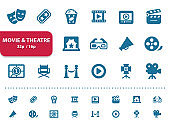 Movie & Theatre Icons (2x magnification for preview)