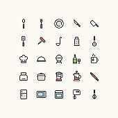 Kitchen & Cooking Outline Icons