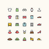 Outline Clothes Icons