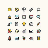 Office & Business Outline Icons