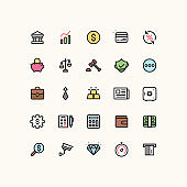 Bank & Finance Outline Icons