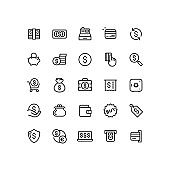 Money & Finance Line Icons