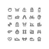 Fitness & Workout Outline Icons
