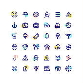 Summer & Travel Line Icons