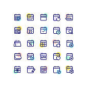 Set of 25 outline icon