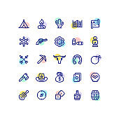 Wild West Outline Icons