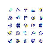 Nautical Outline Icons