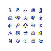 Chemistry & Science Outline Icons
