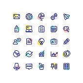 Business & Office Outline Icons