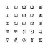 Outline Book Icons
