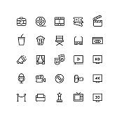 Outline Cinema & Movie Icons