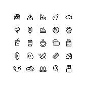 Food & Drink Outline Icons
