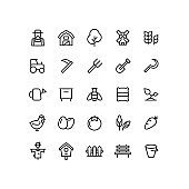 Farm Outline Icons