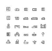 Furniture Outline Icons