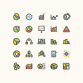 Outline Infographic Business Icons