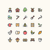 Farm Outline Icons