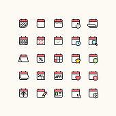 Calendar Outline Icons