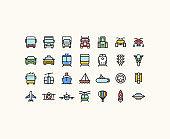 Outline Transportation Icons