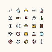 Nautical Sea Outline Icons