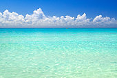 Amazing water of Caribbean Sea in Mexico