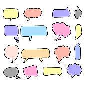 bubbles speech doodle