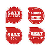 Stickers discount badges