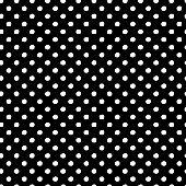 Hand Drawn Polka Dot Vector Seamless Pattern