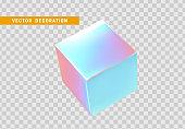 Gradient cube. square volume view.