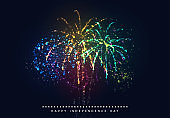 Independence Day USA. 4th of July national holiday, greeting card, banner illustration poster.