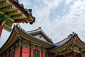 Buddhist temple in Seoul, South Korea - beautiful historic religious building with bright colors