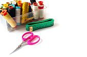 Needle thread scissor tape measure