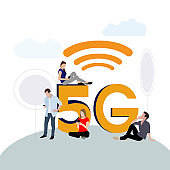 5g network. New modern mobile connect technology
