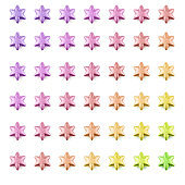 Multi-Colored Seamless Pattern of Stare Shape Christmas Decoration