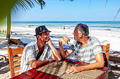 Homosexual Couple Dating on Tropical Beach Holiday