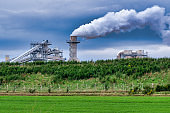 Norbord Mill Manufacturing site, Biomass technology, Inverness, Scotland, view from A96 road