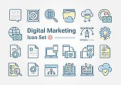 Digital Marketing icon set 1