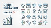 Digital Marketing icon set 2