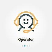 call center operator vector icon