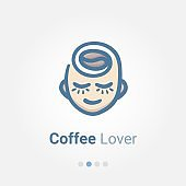 Coffee Lover Illustration Vector Icon