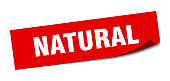 natural sticker. natural square isolated sign. natural