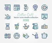 Coffee Café Vector icons doodle collection Vol.3