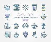 Coffee Café Vector icons doodle collection Vol.2