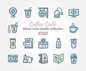 Coffee Café Vector icons doodle collection Vol.4