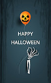 halloween having fun and happy pumpkin laughing party candy trick or treat party decoration,invitation card for holidays moon,bat,cartoon